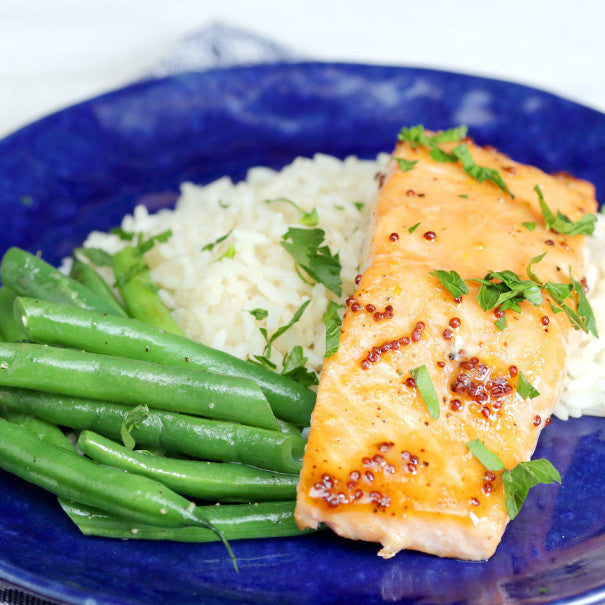 5 Ingredient Maple Mustard Salmon