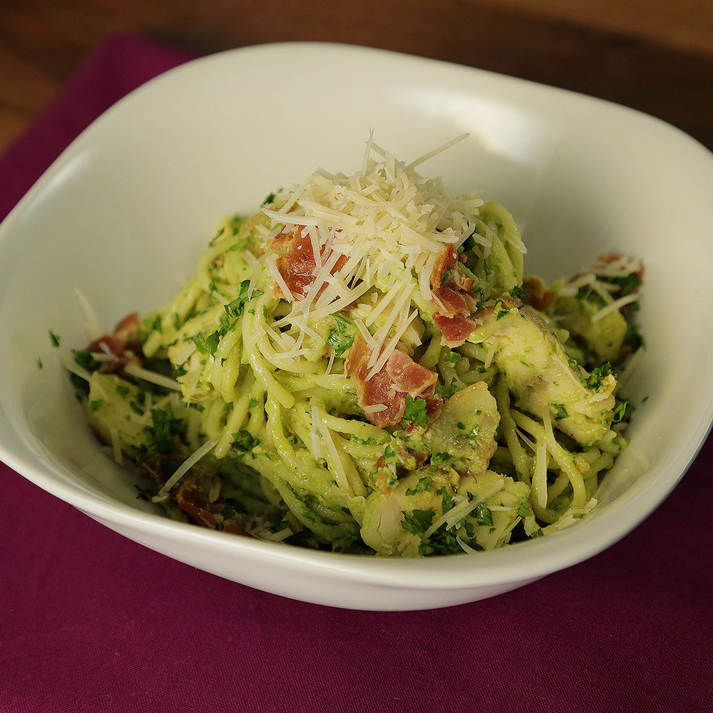 Chicken Bacon Avocado Spaghetti