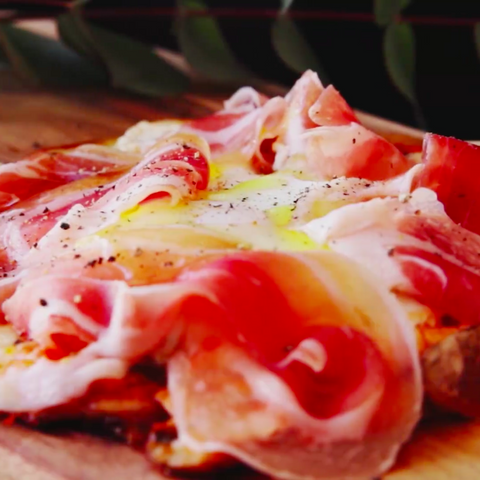 Potato Pizza with Prosciutto