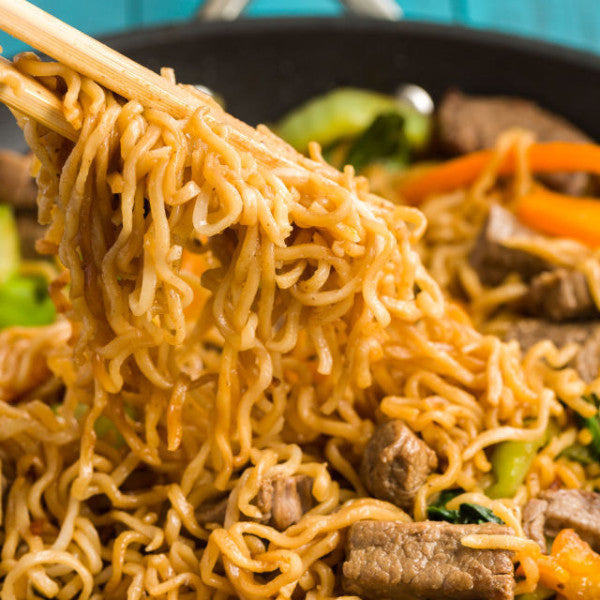 Ramen Noodle Skillet with Steak
