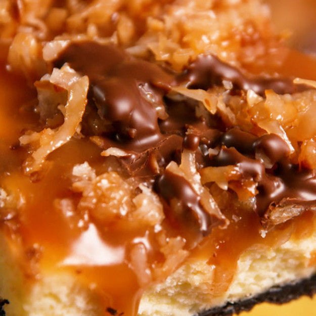 Samoa Cheesecake Bars