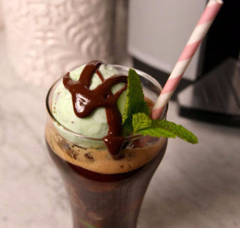 Mint Chocolate Ice Cream Float