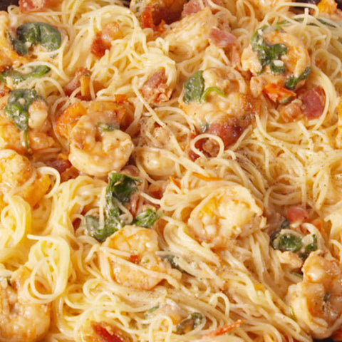 Bacon Shrimp Pasta