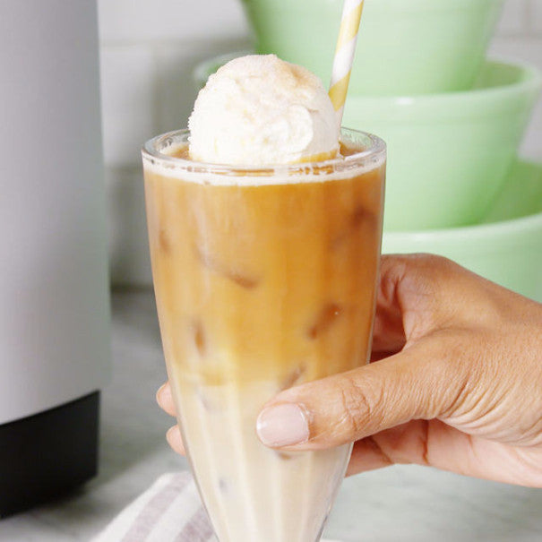 This Churro Iced Coffee Float is Summer in A Glass