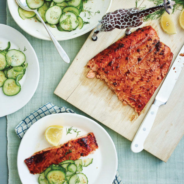Ginger Salmon with Sesame Cucumbers