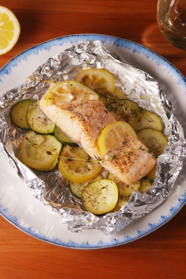Lemon Butter Salmon Foil Packs
