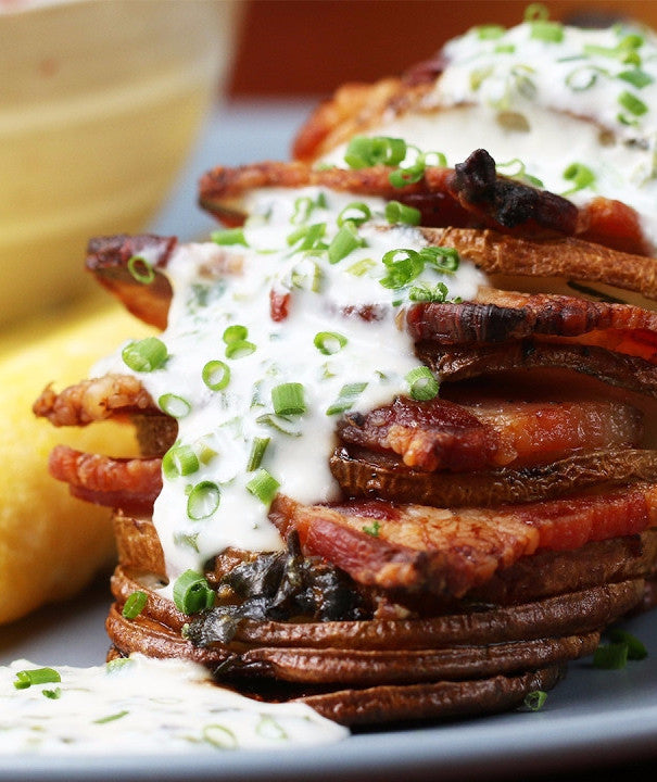 Creamy Bacon Chive Hasselback Potatoes