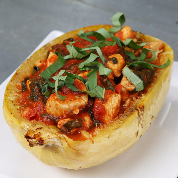 Chicken And Tomato Spaghetti Squash