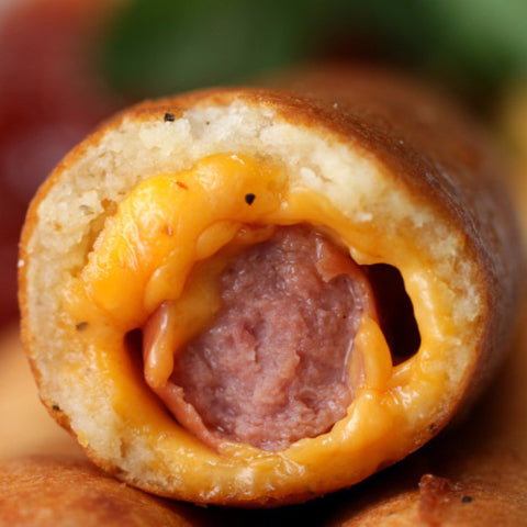 Cheese-Stuffed Corn Dogs