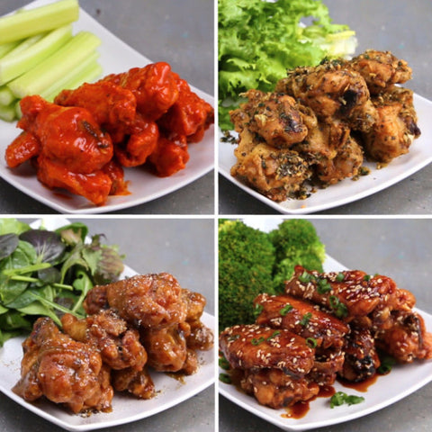 4 Ways Baked Chicken Wings