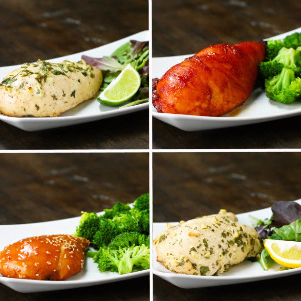 Marinated Chicken 4 Ways