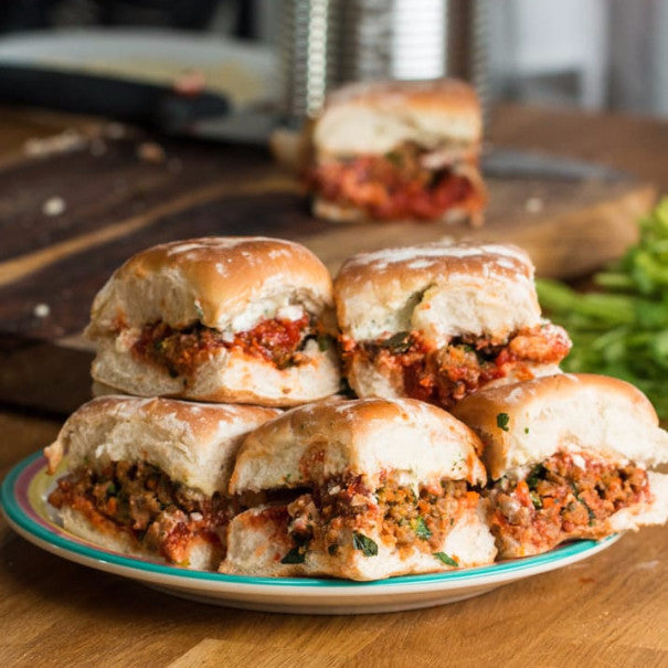 Chorizo Meatball Sliders