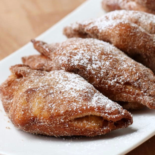 Fried Cinnamon Roll Apple Turnovers