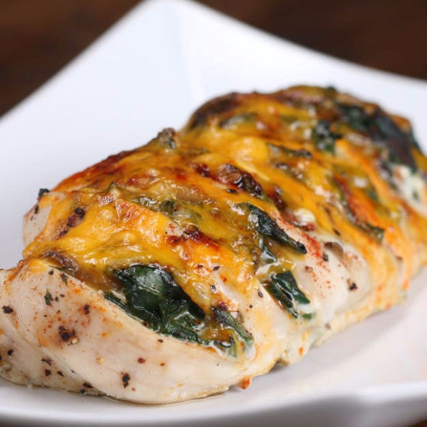 Cheesy Hasselback Chicken