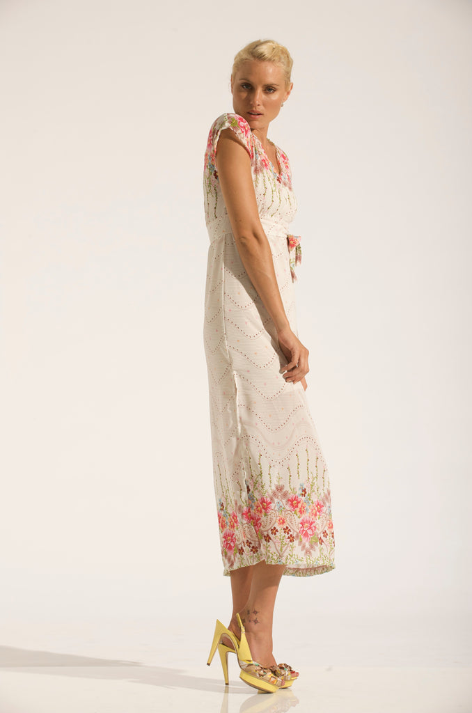 MAXI SHIFT DRESS / GARDEN PRINT