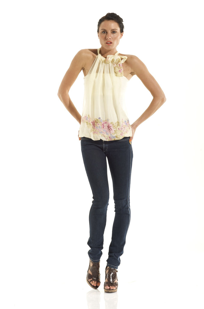 The ORIGINAL LiL designs 8 WAY TOP / ROMANTICISM PURE SILK