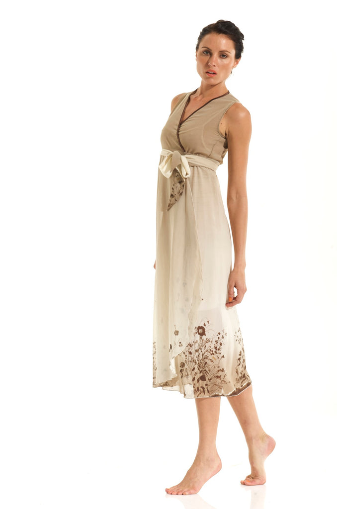WRAP DRESSES / BROWN LOLA
