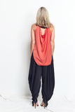 TANK with DRAPING BACK / CORAL