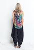 TANK with DRAPING BACK / VIVID print