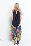 TANK with DRAPING BACK / BLACK