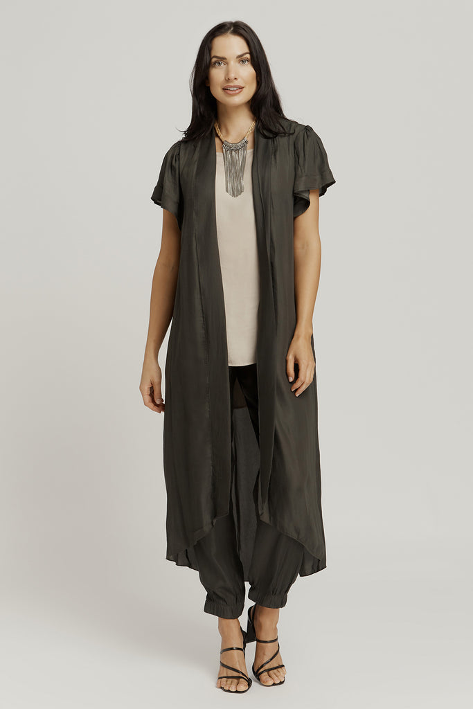CAPES / KIMONOS with pockets / SAGE GREEN
