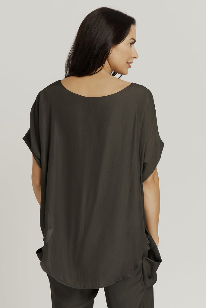 TOP with ATTACHED TANK / SAGE GREEN