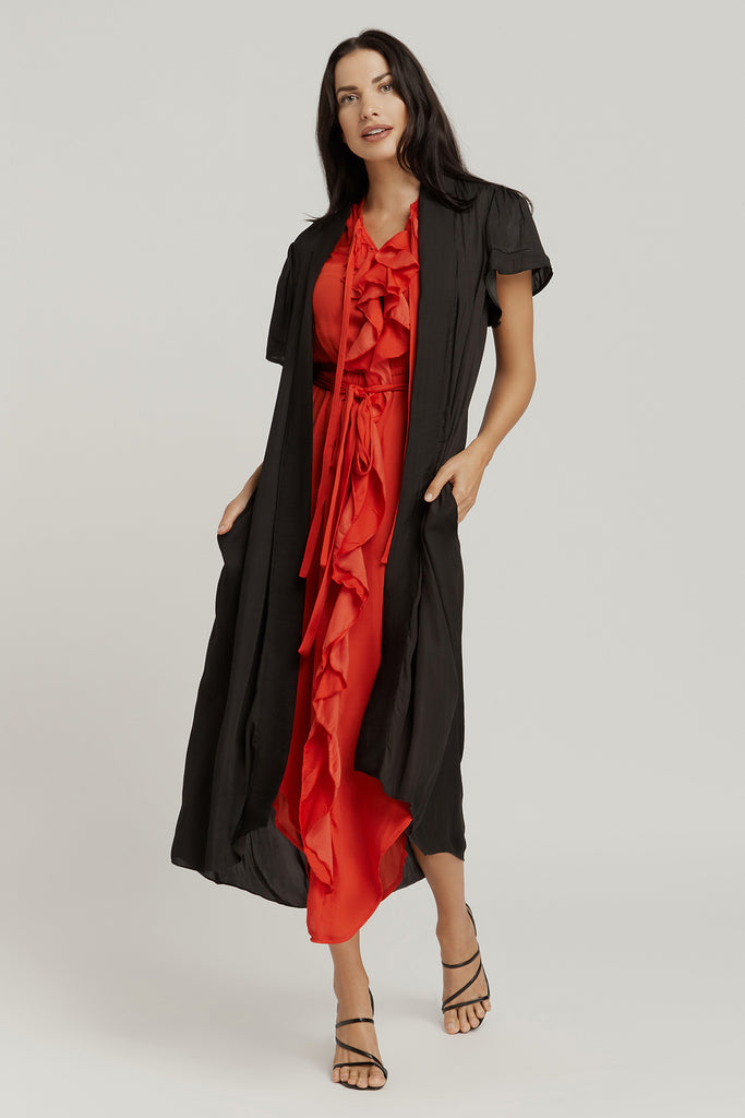 FRILL DRESS / RED