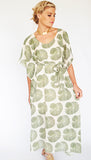 MAXI KAFTAN / GREEN FAN
