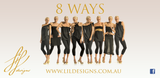 The ORIGINAL LiL designs 8 WAY TOPS / BLACK