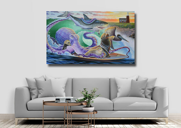 Canvas Print - Surfalopod
