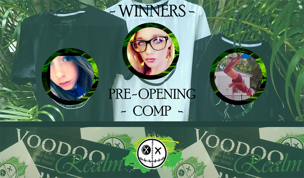 Voodoo Realm Pre-opening Free Shirt Giveaway Winners