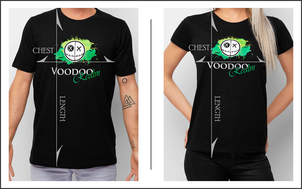 Sizing Diagram Voodoo Realm Mens & Womens