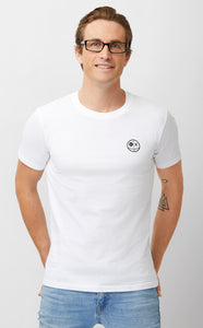 Voodoo Realm Classic Logo Mens White Tee Front