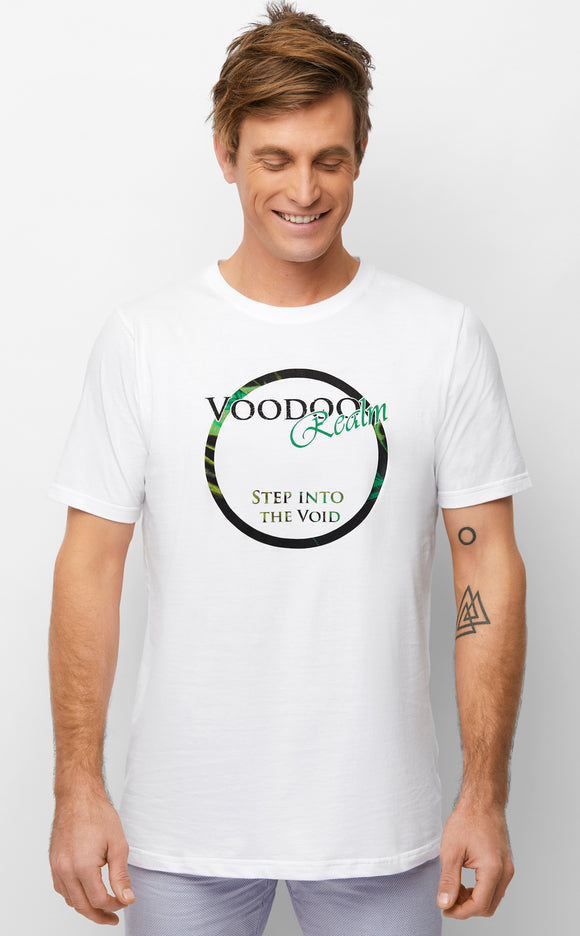 Step into the Void White T-shirt Mens Summer