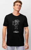 One More Pin Man Black T-shirt Mens Voidling