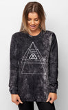 Realm of the Voodoo I Acid Wash Long Sleeved Tee Womens Winter