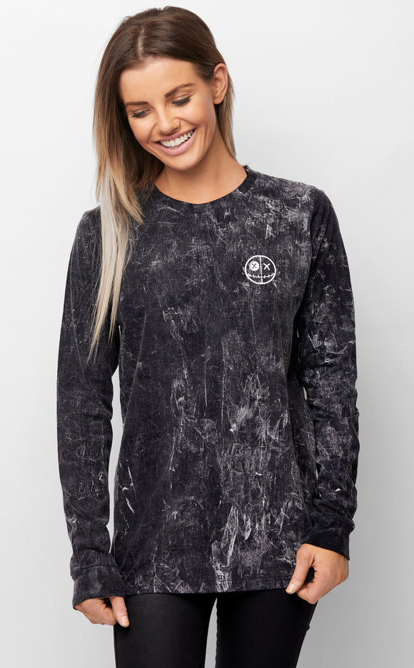 Realm of the Voodoo II Acid Wash Long Sleeved Tee Womens Winter