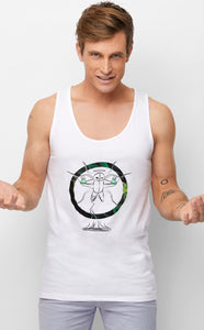Voodoo Mage White Singlet Mens Summer