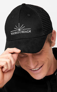 Black Voodoo Realm Baseball Cap Summer and Winter
