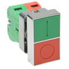 Momentary Pushbutton Switch, Green + Red