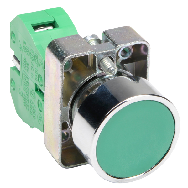 Momentary Pushbutton Switch, Green