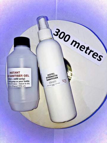 SANITISER SURVIVAL PACK #2 - Hand Sanitiser (250ml refill), 300m Toilet Paper Roll, Hotel Disinfectant - IN STOCK!