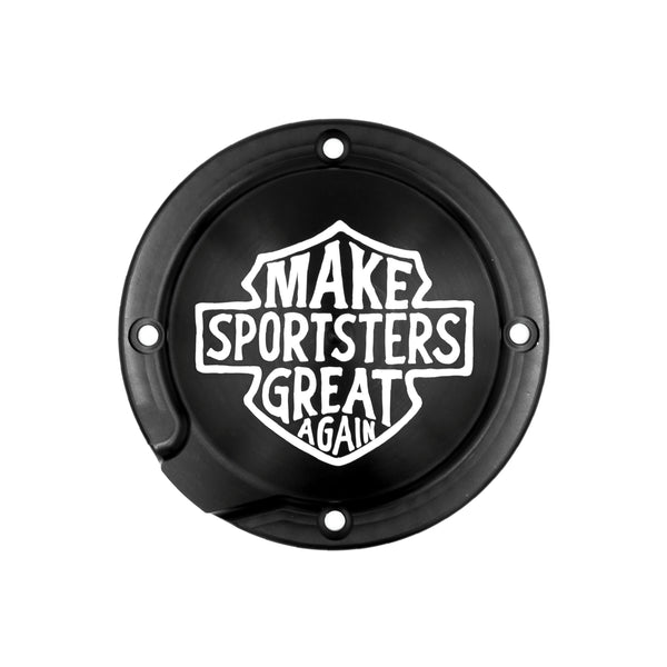 Make Sportsters Great Again Derby Cover Rigid Mount
