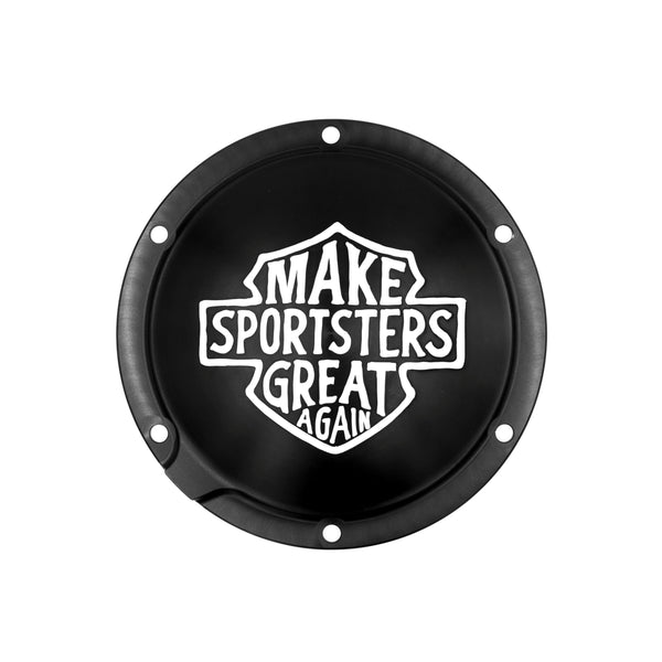 Make Sportsters Great Again Derby Cover Rubber Mount