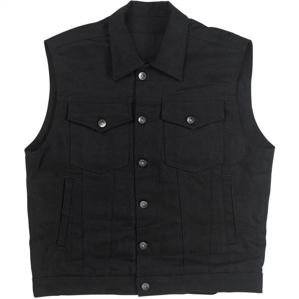 Prime Cut Collared Vest - Black
