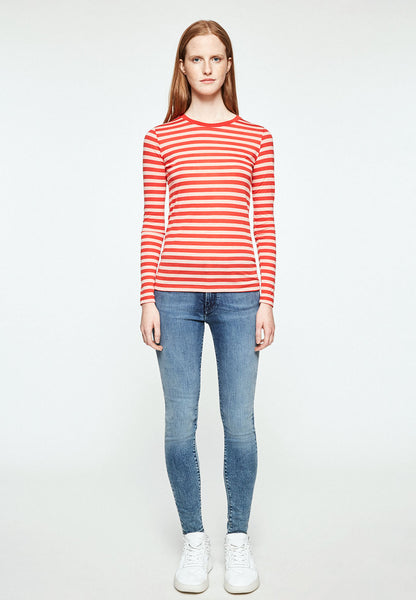 Laraa Bold Stripes (Tomato Red) - ARMEDANGELS