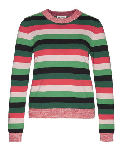 Oxanaa Multi Stripes Knit (Garden Green) - ARMEDANGELS