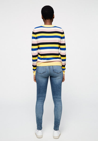 Oxanaa Multi Stripes Knit (Signal Blue) - ARMEDANGELS