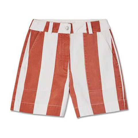 Bangja Shorts (Printed Burnt Orange) - Kings Of Indigo