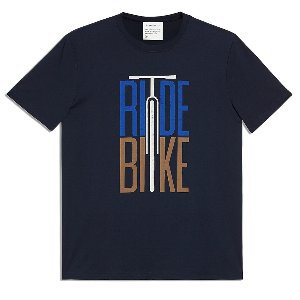 Aado Ride Bike Tee (Navy) - ARMEDANGELS